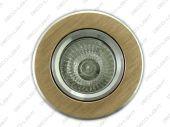 Oprawa halogenowa złota szczotkowana okrągla + GU10 - Polux